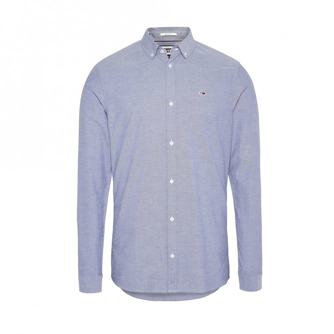 Camasa Tommy Jeans Oxford Black Iris DM0DM06562 Slim Fit