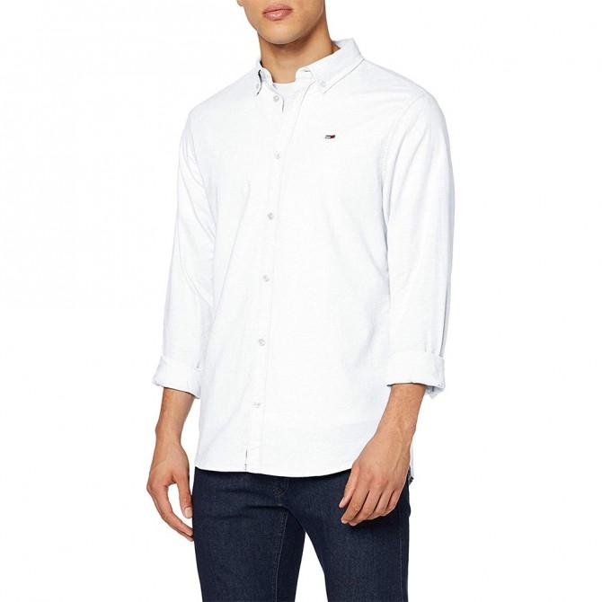 Camasa Tommy Jeans Oxford Dark White DM0DM06562 Slim Fit