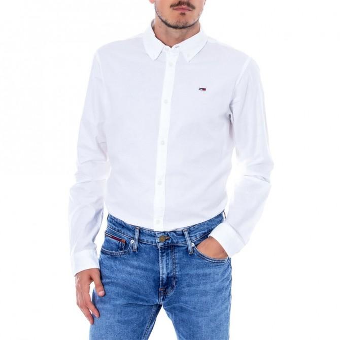 Camasa Tommy Jeans Oxford White DM0DM06562 Slim Fit