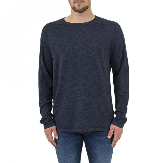 Pulover Tommy Jeans Rib Black Iris