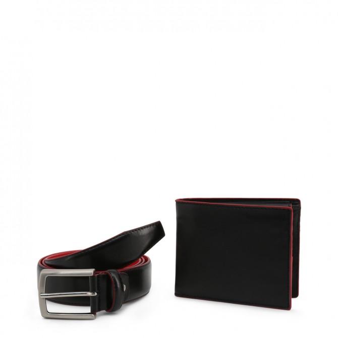 Set curea cu portofel barbati Made in Italia model LUCIO_GIFTBOX
