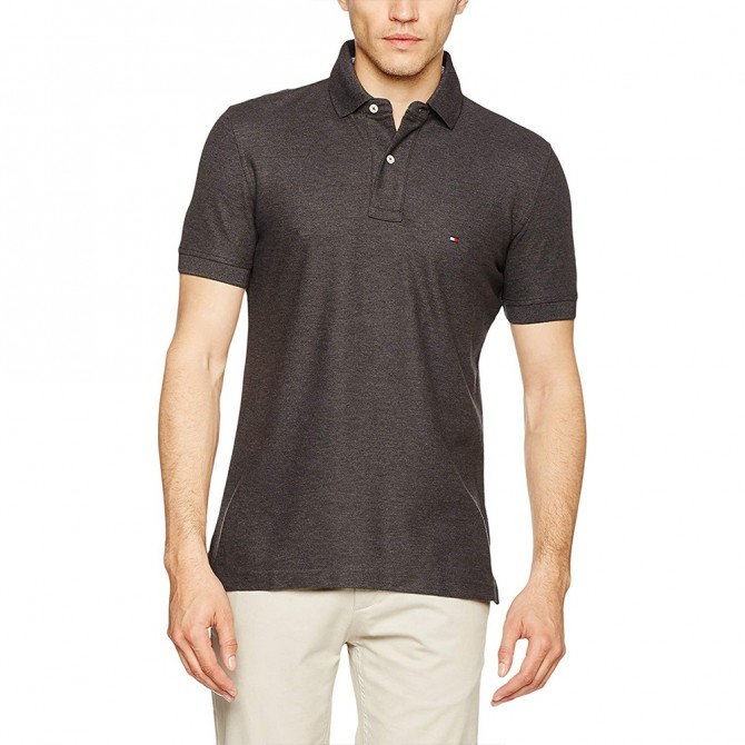 Tricou Tommy Hilfiger Charcoal Slim Fit