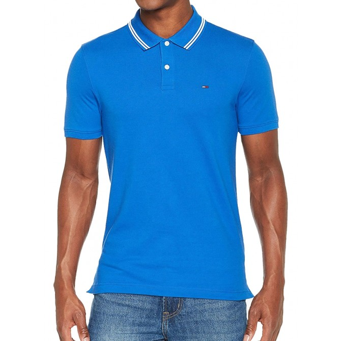 Tricou Tommy Jeans Essential Detail Polo Slim Fit