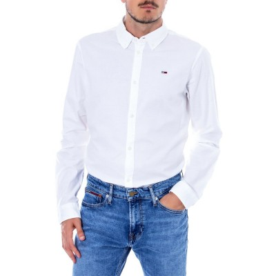 Camasa Tommy Jeans Oxford White DM0DM06562 Slim Fit