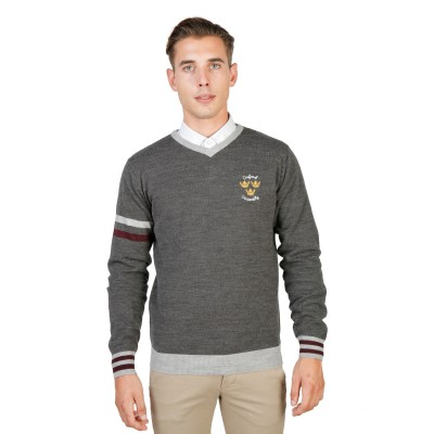 Pulover barbati Oxford University model OXFORD_TRICOT-VNECK