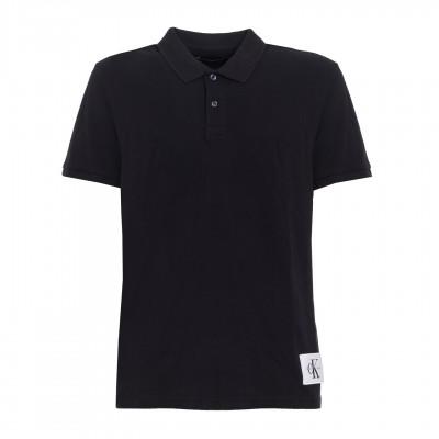 Tricou polo Calvin Klein Jeans Pontos black