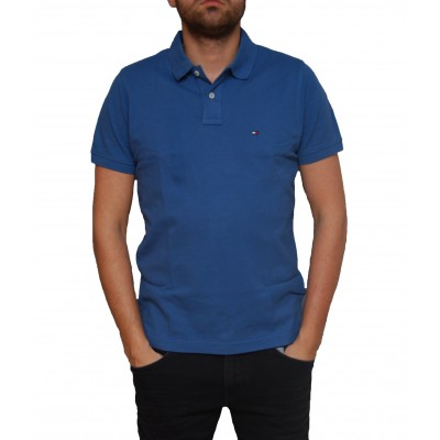 Tricou Tommy Hilfiger True Navy Slim Fit