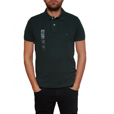 Tricou Tommy Hilfiger Darkest Spurce Slim Fit